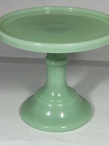 """Jadeite/Jadite Green 6"""" Pedestal Cake Stand Plate - Mosser 2406J Jade"""