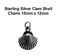 Silver Clam Shell Charm 15mm x 12mm VT-SS-1577