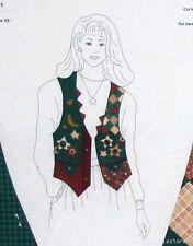 Ladies Vest Stars Moon Cotton Fabric Sewing Material Panel XS S M L Cranston VIP