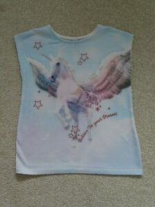 Girl's Unicorn T-Shirt from TU at Sainsburys Age 5 Years