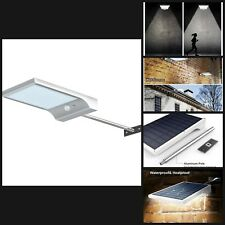 Solar Gutter Lights Wall Sconces with Mounting Pole Outdoor Motion Sensor Garage