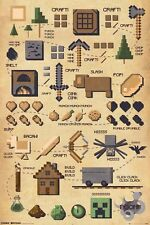 "MINECRAFT POSTER ""pictograph"" LICENSED BRAND NEW"