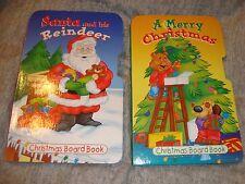 A Merry Christmas & Santa and his Reindeer Better than Broccolli Hard Books