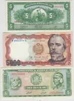 SET OF SIX PERU 1966 TO 1988 BANKNOTES IN CRISP MINT CONDITION