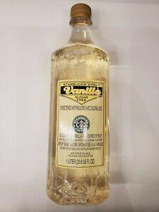 New Starbucks Vanilla sugar free Flavored Syrup 1 Liter 33.8 fl oz SEP 2021