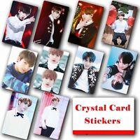10pcs/set Kpop Bangtan Boys JUNG KOOK Photo Card Crystal Card Sticker