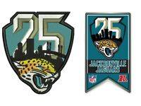 JACKSONVILLE JAGUARS 25TH ANNIVERSARY PIN PATCH COMBO 1995 - 2019 SEASON NFL