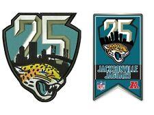 JACKSONVILLE JAGUARS 25TH ANNIVERSARY PIN PATCH COMBO 1995 - 2019 SEASON NFL
