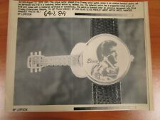 Vintage Wire AP Press Photo The King Elvis Presley Valdawn Guitar LE Watch