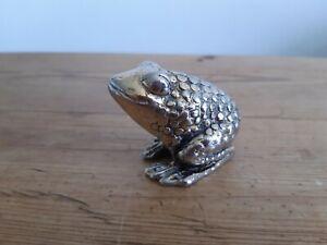 Vintage Metal Miniature Frog Figurine