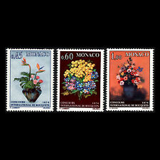 Monaco 1973 - Monte Carlo Flower Show Flora - Sc 894/6 MNH