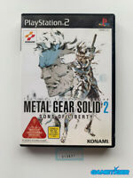 METAL GEAR SOLID 2 Sons Of Liberty Sony Playstation2 PS2 JAPAN Ref: 310631