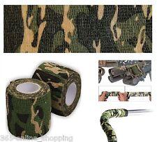 Armée Camouflage Enveloppe fusil chasse Protable STEALTH BANDE 5cm x4.5m