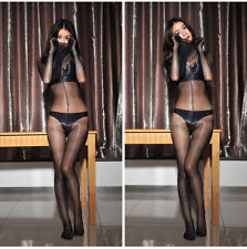 Sexy Shiny 1D Full Body Stockings Bodyhose Sheer Catsuit Bodysuit W Gloves Mask