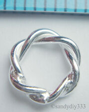 20x STERLING SILVER CLOSED TWIST JUMP RING JUMPRING 6mm N303A