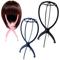 New Folding Plastic Stable Durable Wig Hair Hat Cap Holder Stand Display Tool JP