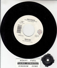 "DIRE STRAITS Heavy Fuel 45 rpm 7"" vinyl record + juke box title strip RARE!"