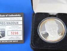 Highland Mint Greg Maddux Proof Silver Art Round MLB E2810