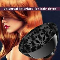 Hair Dryer Diffuser Salon Attachment Blower Nozzle Tool For Home Washable Black
