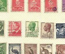 Australia about 650 Stamps on Photo Album Pages Mid to Late 20th Century Nice |