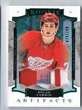 2015-16 ARTIFACTS DYLAN LARKIN ROOKIE PATCH 2 COLORS 74/199 DETROIT RED WINGS