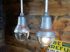Vintage Industrial Explosion Proof Cage Lamps CROUSE HINDS Pendant Light Barn