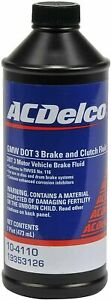 ACDELCO DOT 3 BRAKE & CLUTCH FLUID 10-4110  (16oz)  GM OEM 19353126