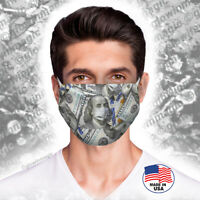 Money Dollar Bills face Mask- Benjamin's 100$- Washable, Reusable- Free Shipping
