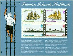 Pitcairn Is 1975 Mail Boats Mini Sheet SG MS161w Wmk Sideways Inverted Fine MNH