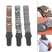 Adjustable Woven Embroidery Guitar Strap Acoustic Electric Guitars Bass Belt