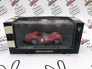 "Die Cast "" Maserati Type 61 Scca National Race Meadowdale 1961 "" 1/43 MINICHAMPS"