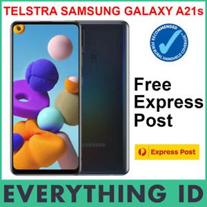 TELSTRA SAMSUNG GALAXY A21s 4GX 128GB 6.5″ SCREEN BLUE TICK BLACK - FREE EXPRESS