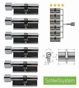 Schließsystem 60mm Gleichschließend Knauf Tür- Profilzylinder Schließanlage