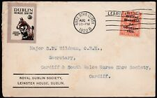 More details for 1922 dublin horse show label with irish overprint royal dublin society cardiff