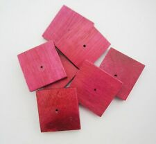 8 x Dark Red Wooden 24mm Square Stacking Beads - centre hole
