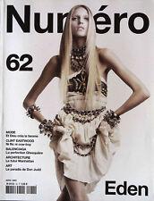 NUMERO #62 April 2005 ANJA RUBIK Kim Noorda JENNIFER PUGH Isabeli Fontana @EXCL@