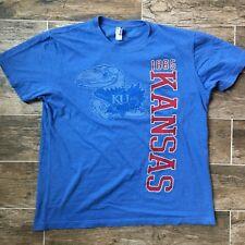 Vintage Kansas Jayhawks Large T-shirt KU NCAA Russell Athletics 1865 Lawrence
