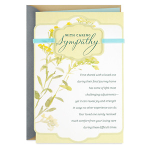 Hallmark DaySpring Greetings Card - Your Loving Care Religious Sympathy Card