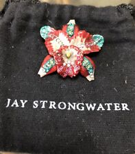 jay strongwater Orchid Pin
