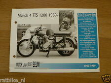 MVE65- MUNCH 4 TTS 1200 1969-78 NSU MINI POSTER AND INFO MOTORCYCLE,MOTORRAD