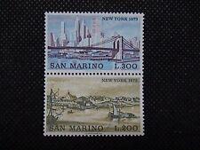 SAN MARINO 1973 serie 2 francobolli TEMATICA : CITTA' deI MONDO NEW YORK em.001B