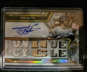 2020 Topps Triple Threads Relics Auto Todd Helton #TTAR-TH3  #'ed 7 of 18