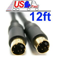 12ft SVHS,S-Video,Super VHS,YC,Y C,Male-M DVD/HDTV/PC TV out Cable {GOLD Plated