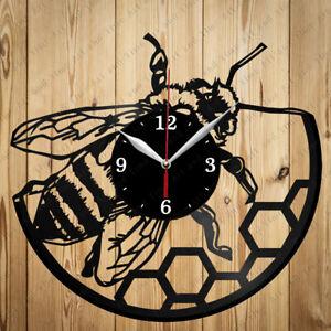 Vinyl Clock Bee Vinyl Record Clock Handmade Original Gift 6088