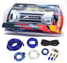 farad car audio capacitors power acoustik pcx3f 3 farad car digital capacitor cap 0 gauge wiring kit