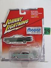 JOHNNY LIGHTNING MOPAR 1958 PLYMOUTH BELVEDERE  WHITE LIGHTNING