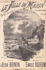 la fille du marin romance dramatique chanson pour chant 1900 Emile Duhem