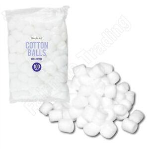 100 Pure Cotton Balls Make Up Nail Polish Remover Absorbent 100% Cotton Wool