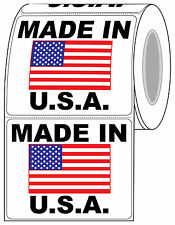 """5"""" x 4"""" """"Made In U.S.A"""" with Flag Artwork Shipping Label Compulabel (821297)"""