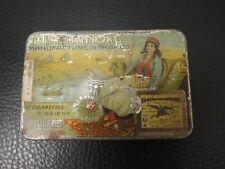 VTG.Egyptian Orient Cìgarettes Tin DIMITRINO Luxor - Smoking Lady - rare c.1910s
